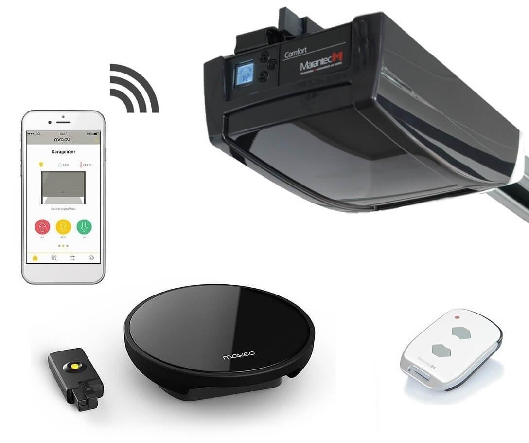 Marantec Comfort 270 Garagentorantrieb Maveo Set Smartphone Garagentoröffner