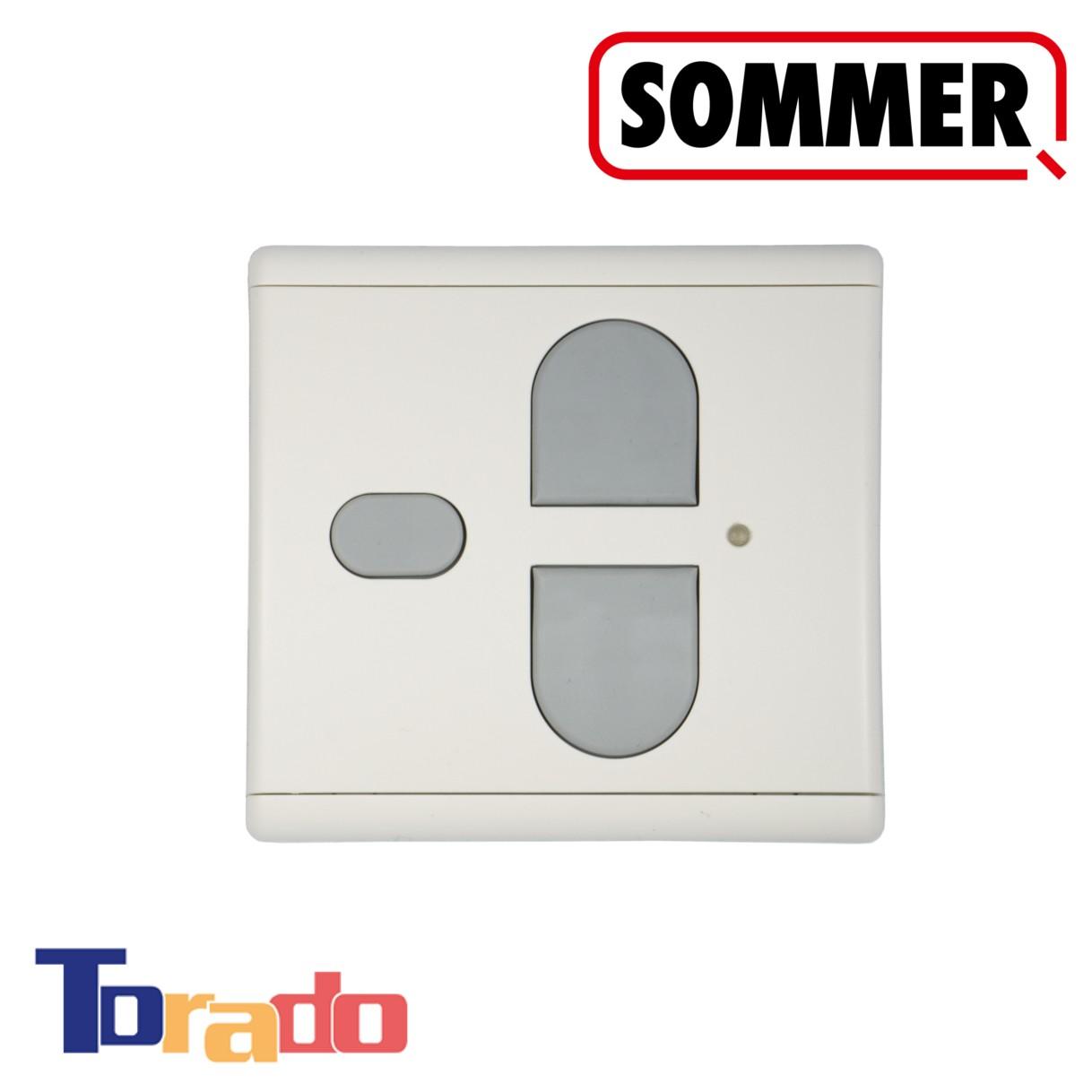 Sommer Funk-Wandtaster 3-Befehl 868 MHz weiß