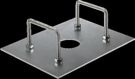 Marantec CP-BR6 Fundamentplatte für PA68 & PA3F Schranken